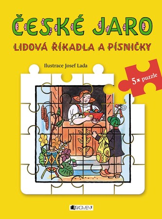 Lidová říkadla a písničky s puzzle - České jaro - Josef Lada