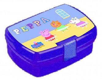 Prasátko Peppa - Fialový svačinový box - neuveden