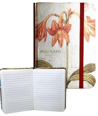 Zápisník s gumičkou 95x140 mm lilie A