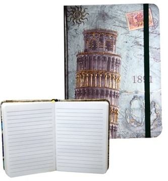 Zápisník s gumičkou 95x140 mm Pisa A