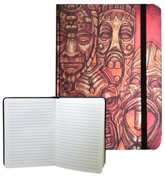Zápisník s gumičkou 178x126 mm africké masky F