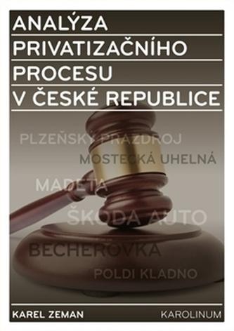 Analýza privatizačního procesu v České republice - Karel Zeman