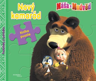 Máša a medvěd - Nový kamarád (kniha s puzzle) - Disney Walt