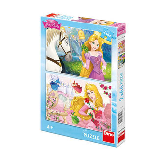 Princezny: Portréty - Puzzle 2x66 - Disney Walt
