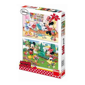 Pracovitá Minnie - Puzzle 2x66 - Disney Walt
