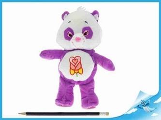 Starostlivý medvídek plyšový fialový