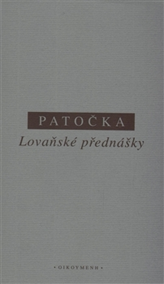 Lovaňské přednášky - Patočka, J.