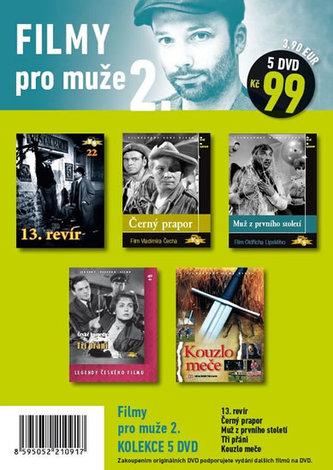 Filmy pro muže 2. - 5 DVD pošetka - neuveden