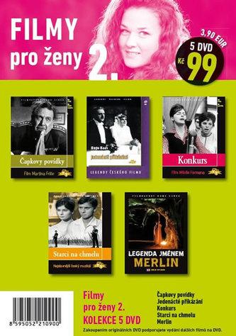Filmy pro ženy 2. - 5 DVD pošetka - neuveden
