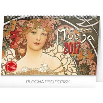 Kalendář stolní 2017 - Alfons Mucha, 14,5x23,1cm - neuveden