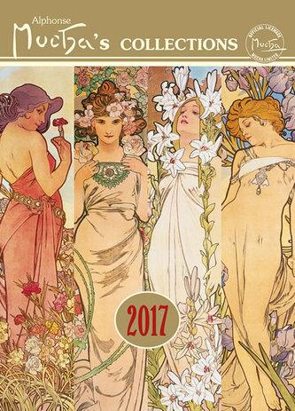 Kalendář nástěnný 2017 - Alfons Mucha, 33 x 46cm - neuveden