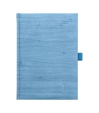 Diář 2017 - Wood modrý týdenní A5 - neuveden