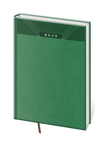 Diář 2017 - Print/denní A5 zelená - neuveden