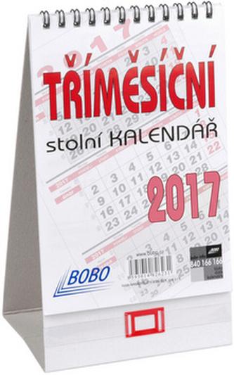 Tříměsíční stolní kalendář 2017 - stolní kalendář