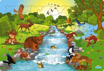 Logické puzzle - Zvieratká les