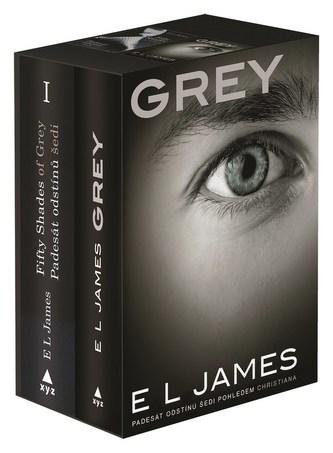 Padesát odstínů šedi + Grey BOX - E L James