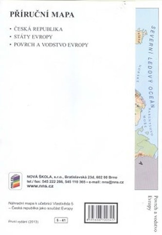 Náhradní mapa k učebnici Vlastivěda 5 - ČR jako součást Evropy - neuveden