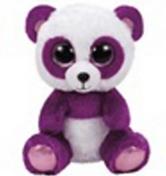Plyš očka střední panda