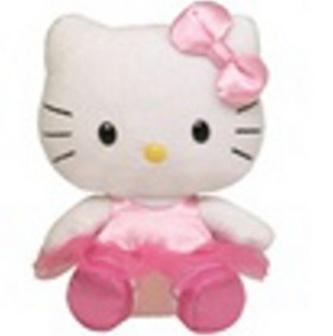 Plyš Beanie Babies Lic HELLO KITTY - ballerina