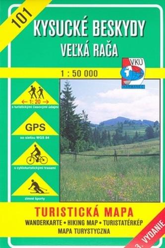 Kysucké Beskydy Vežká Rača 1:50 000