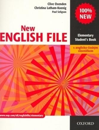New English file elementary Studenťs Book s anglicko-českým slovníčkem - Clive Oxenden; Christina Latham-Koenig