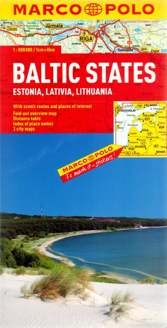 Baltské státy 1:800 000