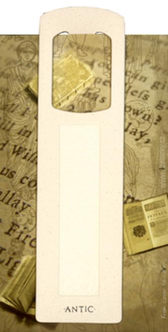 Antická záložka Mince krémová - AZ 004