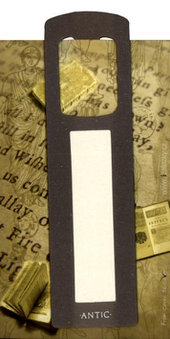 Antická záložka Chrám tmavě šedá - AZ 010